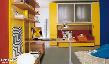 Итальянская мебель Julia - Стенка и кровать, smail