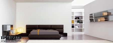 Итальянская мебель Pianca - Кровать People Vintage Tatami с кожаными панелями