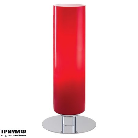 Американская мебель George Kovacs - 1 Light Table Lamp Glossy Red Glass