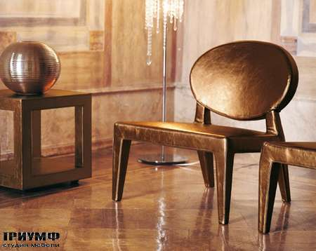 Итальянская мебель Love Luxe (Longhi) - Кресло Midori, в коже кои