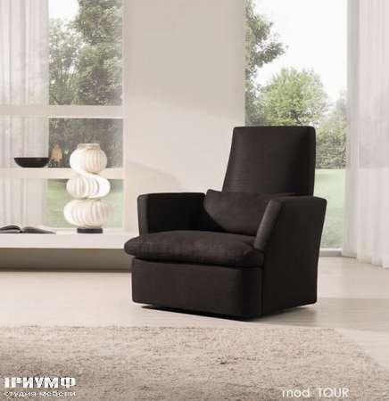 Итальянская мебель CTS Salotti - Кресло из алькантары, коллекция Tour