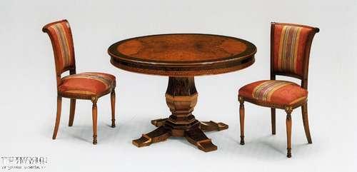 Итальянская мебель Citterio Fratelli - Стол круглый на одной ноге с интарсией