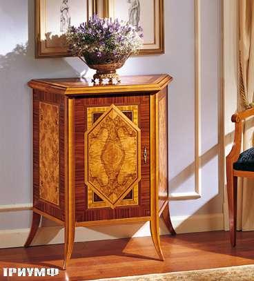 Итальянская мебель Colombo Mobili - Комод в стиле Бидермайер арт. 199 кол. Cimarosa вишня корень ясеня