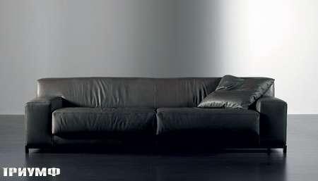 Итальянская мебель Meridiani - диван Freeman nickel кожанный
