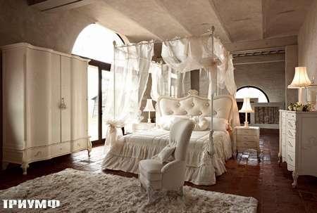 Итальянская мебель Volpi - кровать Doge с балдахином