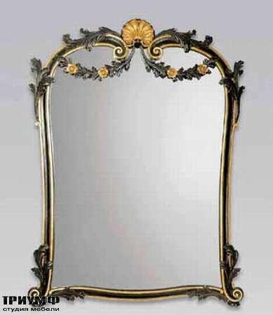 Итальянская мебель Chelini - Зеркало с розами арт.1210