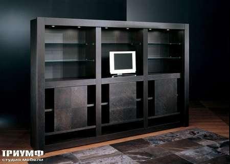 Итальянская мебель Smania - Стенка Barbook, венге, с распашными дверьми