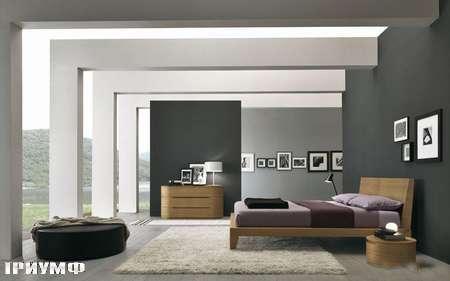 Итальянская мебель Presotto - кровать Dune в дереве walnut canaletto