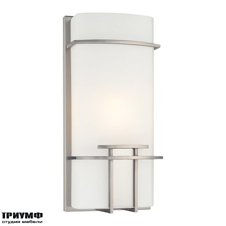 Американская мебель George Kovacs - 1 Light Wall Sconce in Brushed Nickel Finish