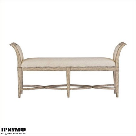 Американская мебель Stanley - Resort Surfside Bed End Bench in Sandy Linen