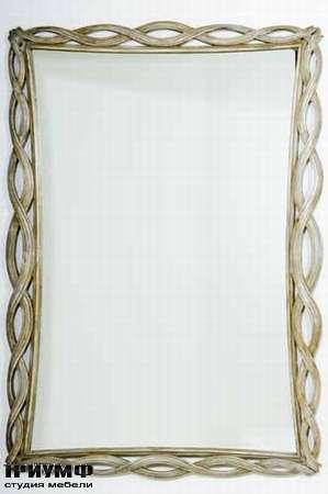 Итальянская мебель Chelini - Зеркало с плетёнкой арт. 1223