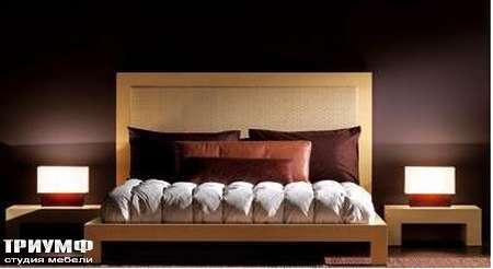 Итальянская мебель Rattan Wood - Кровать Swamy