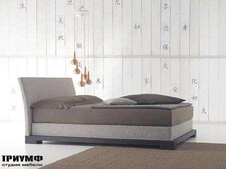 Итальянская мебель Orizzonti - кровать Andaman отделка ткань 1