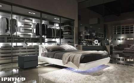 Итальянская мебель Presotto - кровать Flat в экокоже