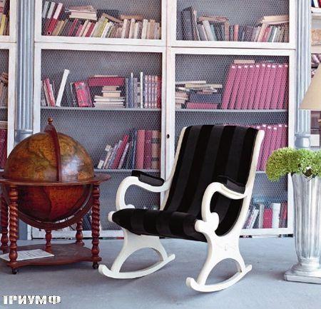 Итальянская мебель Tonin casa - кресло качалка из дерева мягкое