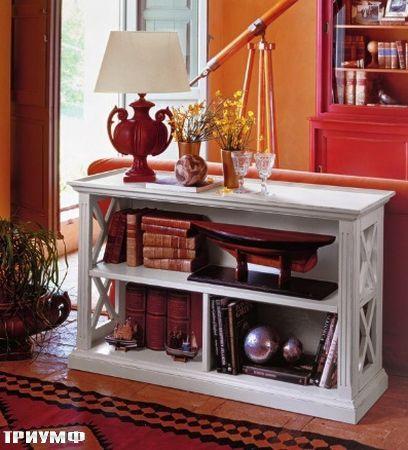 Итальянская мебель Tonin casa - низкий открытый деревянный стеллаж