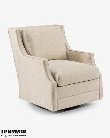 Американская мебель John Richard - Wing Back Scoop Arm Swivel Glider Chair