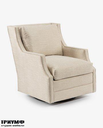 Американская мебель John Richard - Wing Back Scoop Arm Swivel Glider Chair