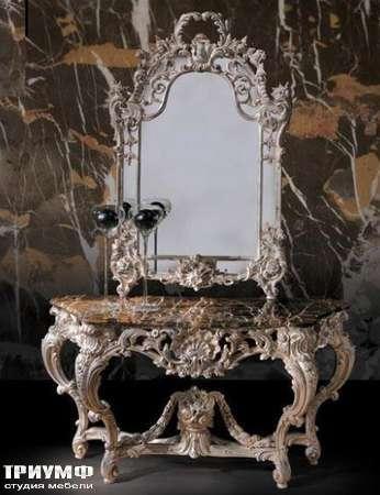 Итальянская мебель Ezio Bellotti - Консоль с мраморной столешницей