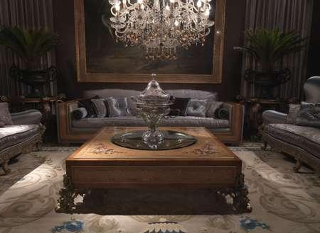 Итальянская мебель Jumbo Collection - Кофейный стол низкий коллекция Hermes