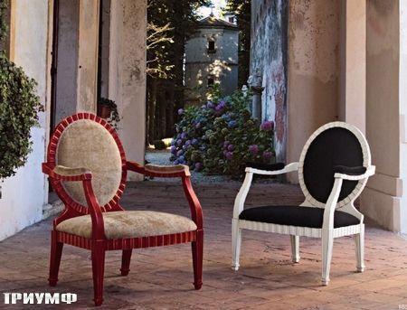 Итальянская мебель Tonin casa - кресло с круглой спинкой