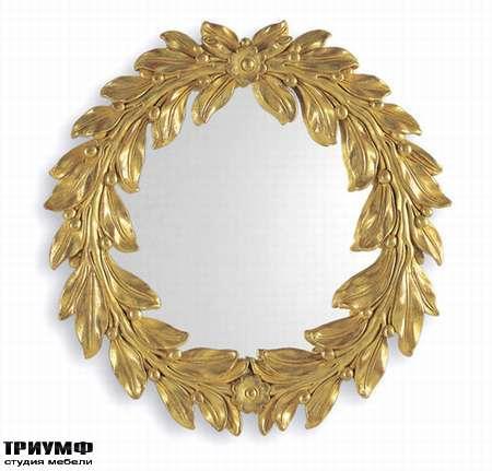 Итальянская мебель Chelini - Зеркало круглый венок арт.413