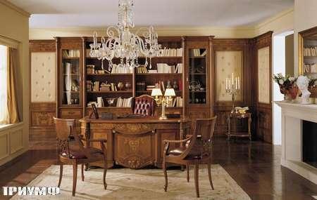Итальянская мебель Grilli - письменный стол, стулья с подлоконтиками
