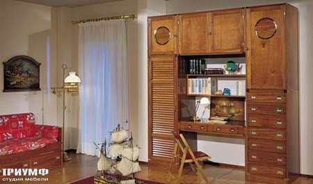 Итальянская мебель Caroti - Рабочий стол с иллюминатором La vecchia marina
