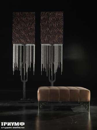 Итальянская мебель JC Passion - Пуф RIA-45 Торшер DES-2000