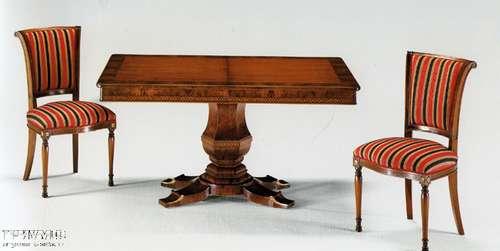 Итальянская мебель Citterio Fratelli - Стол квадратный на одной ноге