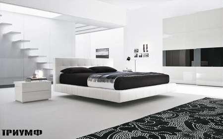 Итальянская мебель Presotto - кровать Omega в белой коже