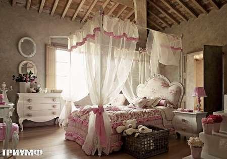 Итальянская мебель Volpi - кровать Serena для девочки с балдахином