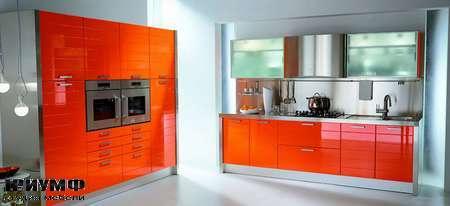 Итальянские кухни Tomassi cucine - modula. arancio rosso chiar