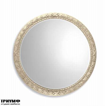 Итальянская мебель Chelini - Зеркало круглое с растительным орнаментом арт. 356