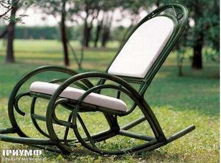 Итальянская мебель Rattan Wood - Кресло-качалка Barocco