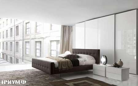 Итальянская мебель Presotto - кровать Omega с простеганной спинкой и изножием