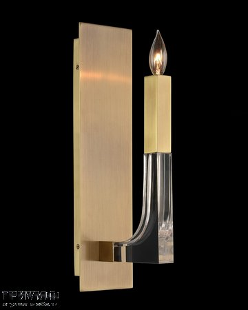 Американская мебель John Richard - Acrylic and Brass Single Light Wall Sconce