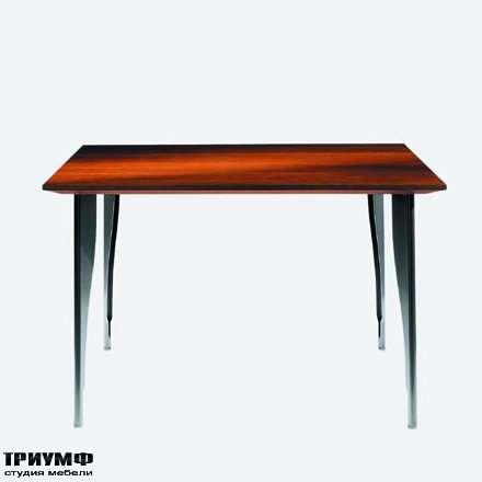 Итальянская мебель Driade - Стол квадратный метал, дерево