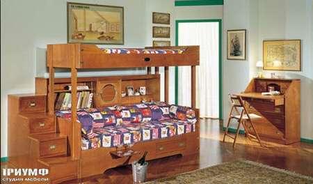 Итальянская мебель Caroti - Двух ярусная детская с иллюминаторами
