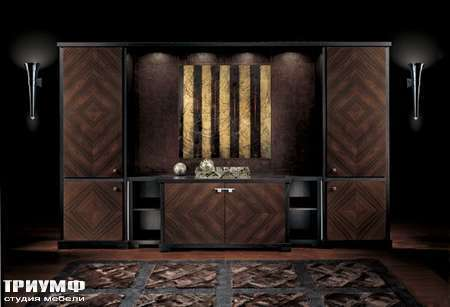 Итальянская мебель Smania - Стенка Must Set Deluxe в палисандре