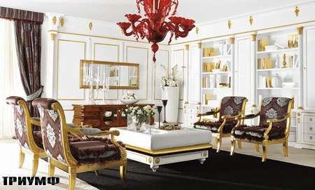 Итальянская мебель Grilli - кресла глубокие, журнальный стол