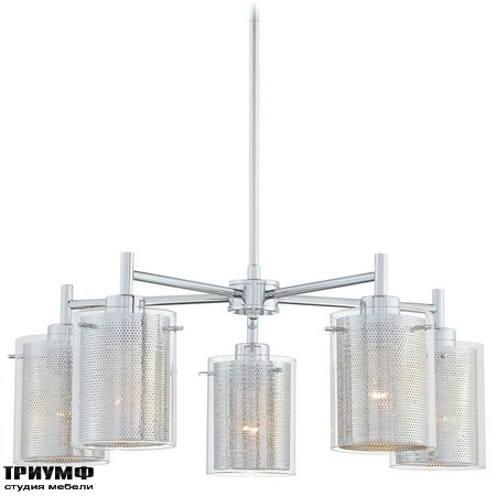 Американская мебель George Kovacs - 5 Light Chandelier with Chrome finish