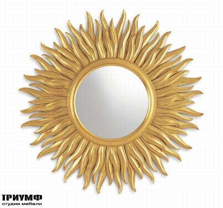 Итальянская мебель Chelini - Зеркало золотое солнце арт.674