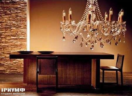 Итальянская мебель Rattan Wood - Стол Bizarre стул Alea