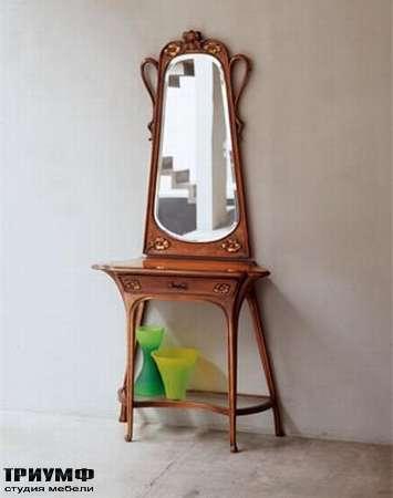Итальянская мебель Medea - Столик туалетный арт. 301, зеркало арт. 302