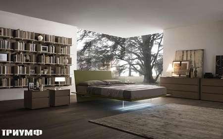 Итальянская мебель Presotto - кровать Plana с подсветкой