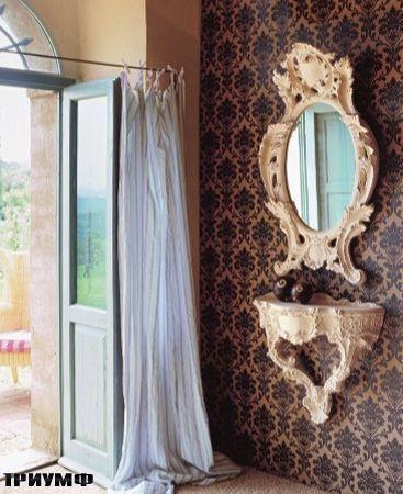Итальянская мебель Tonin casa - зеркало рококко
