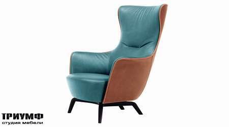 Итальянская мебель Poltrona Frau - кресло Mamy Blue