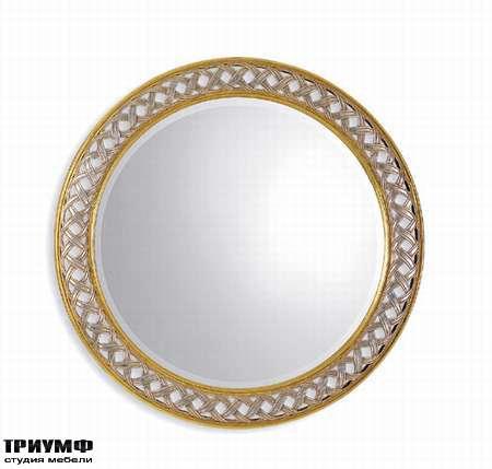 Итальянская мебель Chelini - Зеркало круглая косичка арт. 797