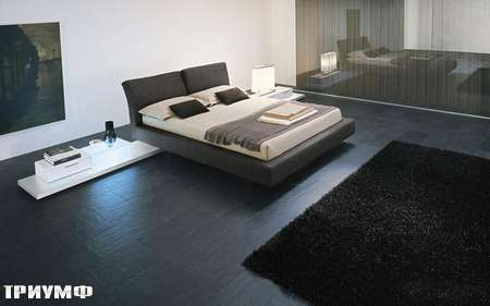 Итальянская мебель Presotto - кровать Reflex в ткани с регулируемой спинкой